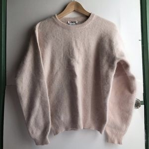 VINTAGE Light Baby Pink Rabbit Hair Blend Sweater